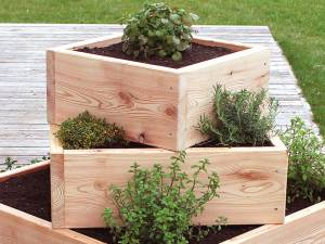 Kräuterpyramide - der optische Hingucker für Ihren Garten